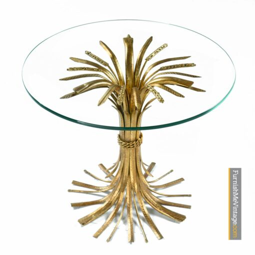 mid century Wheat Sheaf cocktail table