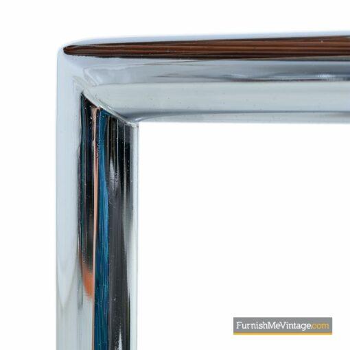 mid century chrome cane coffee table