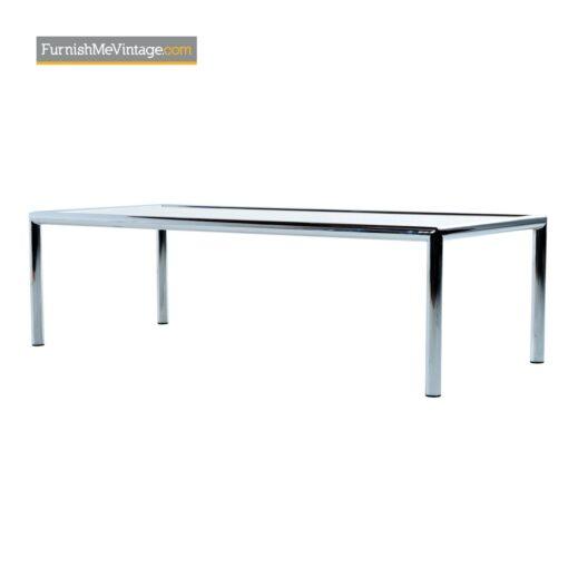 mid century modern chrome coffee table