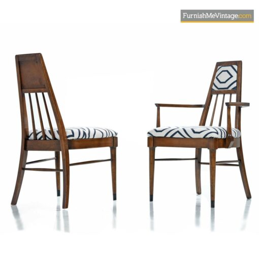 mid century spindle back dining chairs