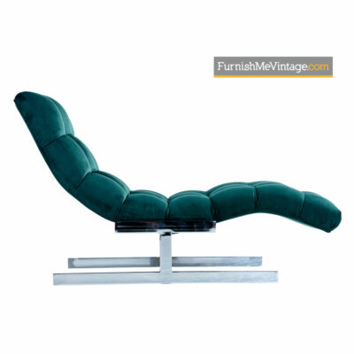 Carsons Chaise Wave Lounge in the Style of Milo Baughman