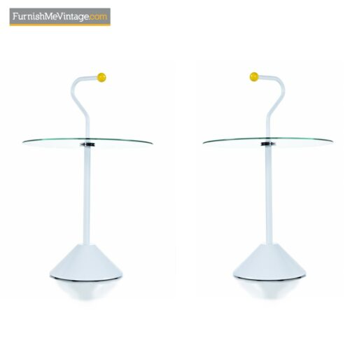 modern memphis yellow side tables