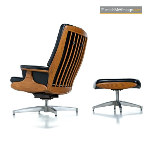 naugahyde mcm lounge chair ottoman