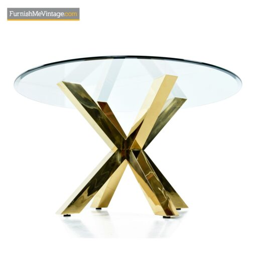 paul evans style brass dining table