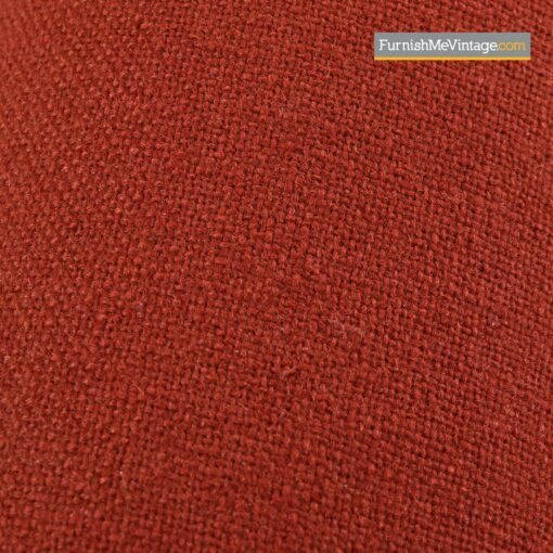red tweed sectional sofa vintage modern