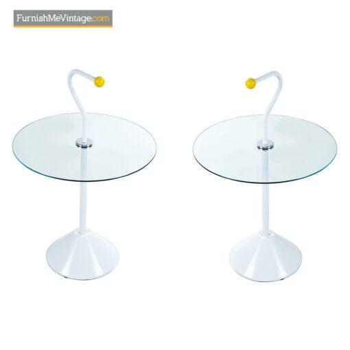 retro memphis style side tables