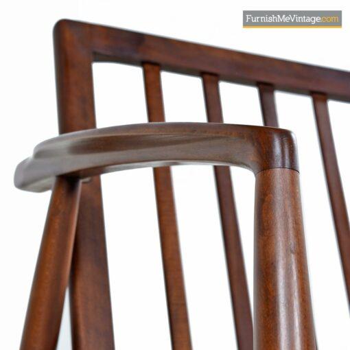spindle back danish walnut sofa