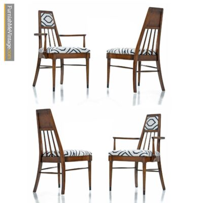 spindle back mid century dining chairs