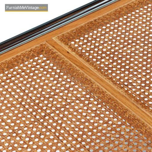tubular chrome cane coffee table