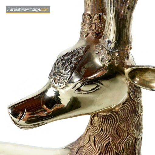 vintage 70s brass deer Sarreid