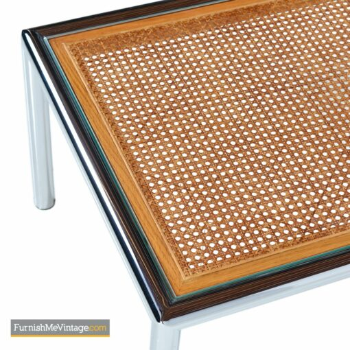 vintage modern chrome coffee table