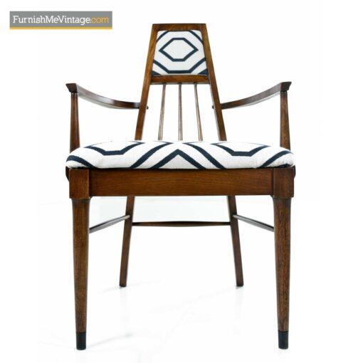 vintage modern walnut arm chair