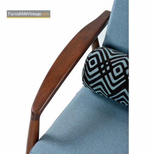 walnut frame danish sofa