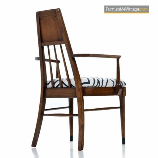 walnut spindle back dining chairs