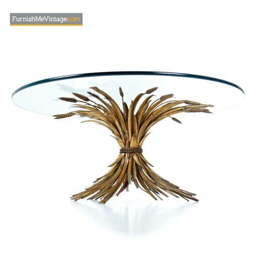 wheat sheaf brutalist coffee table