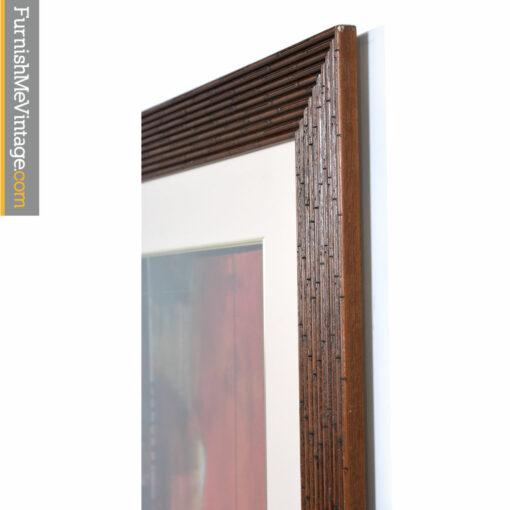 bamboo frame modern art