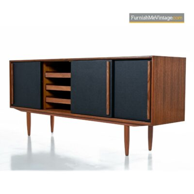 Gunni Oman Teak credenza with black doors