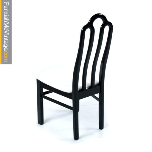 black modern dining chair set