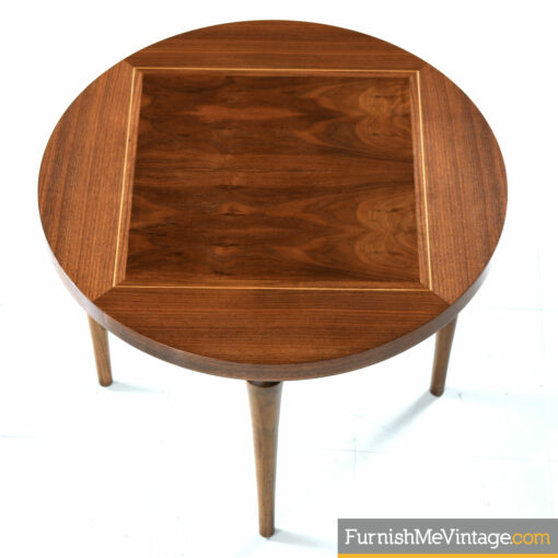 circular mid century modern side table