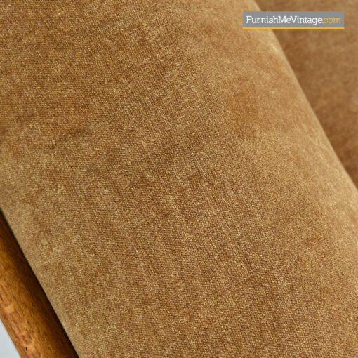 curved slat back oak sofa