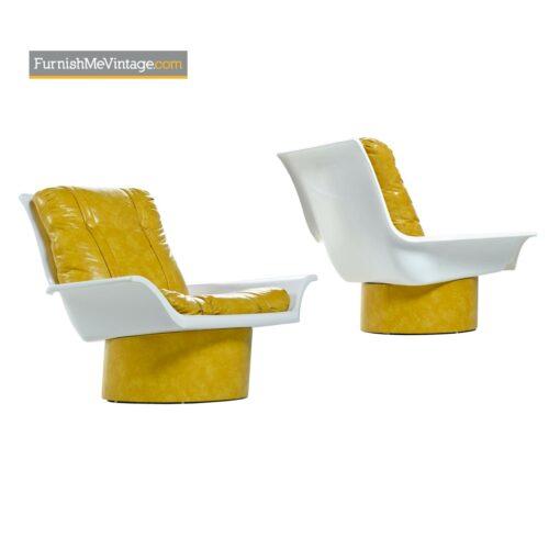 futorian lounge chairs lemon