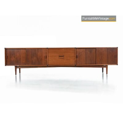 galloways walnut credenza danish modern