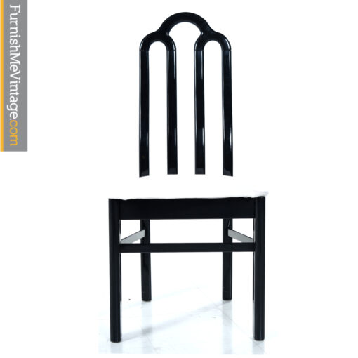 laquer black dining chairs