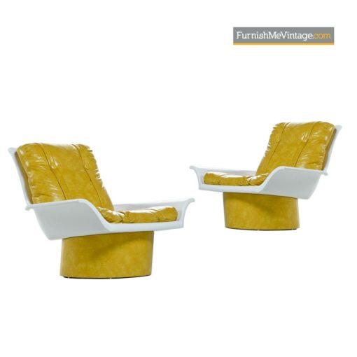 lemon vinyl futorian lounge chairs