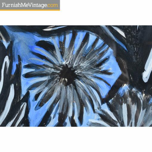 louis albert gayrin blue flower painting