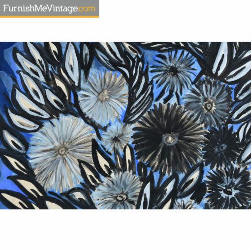 louis albert gayrin blue flowers