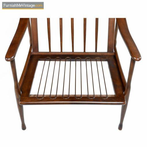 walnut wood mid century modern Italian chair