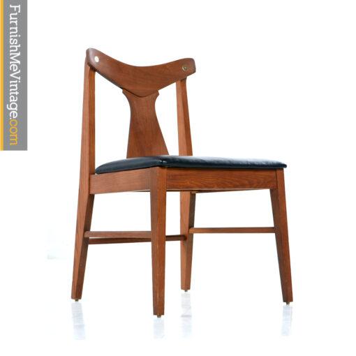 mid century walnut chairs