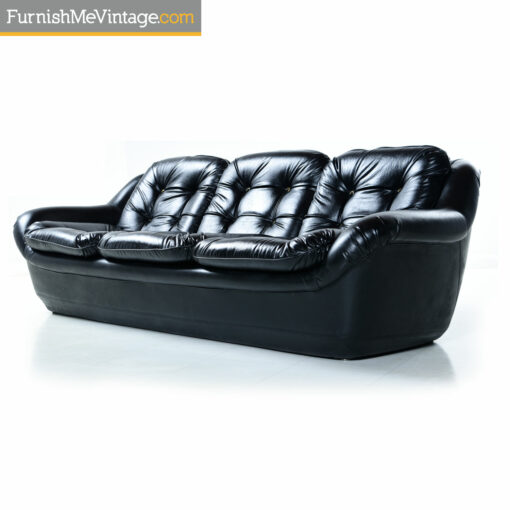 original black mid century modern sofa