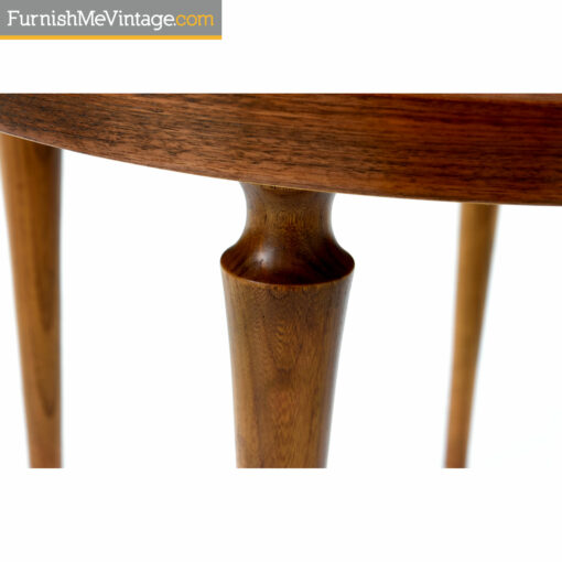 spindle turned mid century modern side table