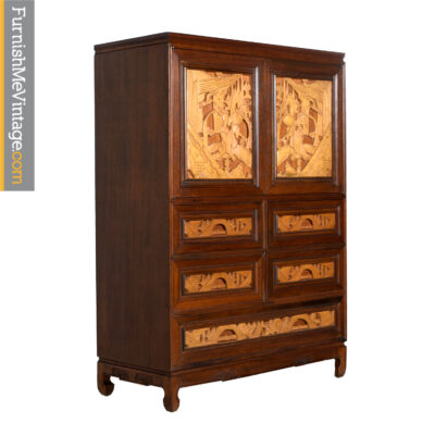 teak chinese chest of drawers