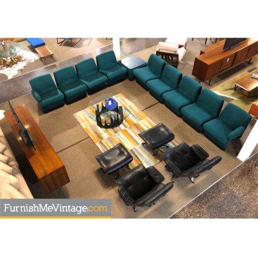 teal modern sectional sofa