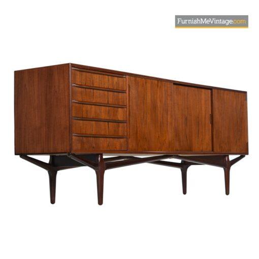 vintage danish teak credenza sideboard