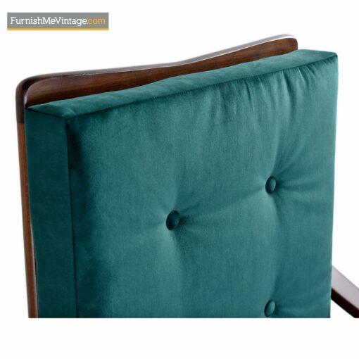 vintage modern walnut armchair