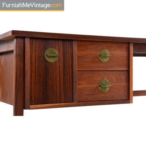 walnut rosewood retro desk
