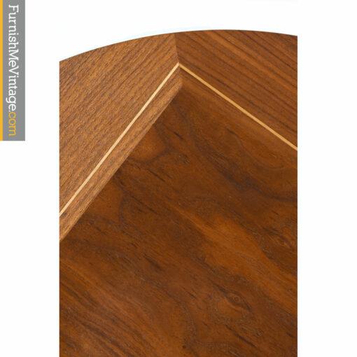 walnut wood inlay table