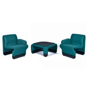 Paul Boulva for Artopex Ten Forward Suspension Chairs 3-Piece Set