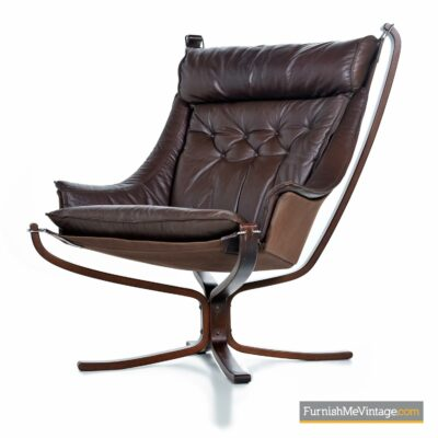 Sigurd Ressell falcon chair brown leather