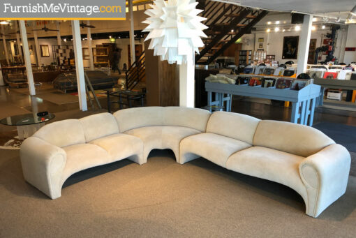 art deco curved sectional sofa