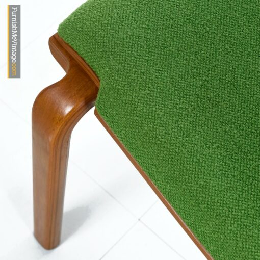 bent ply modern green dining chairs