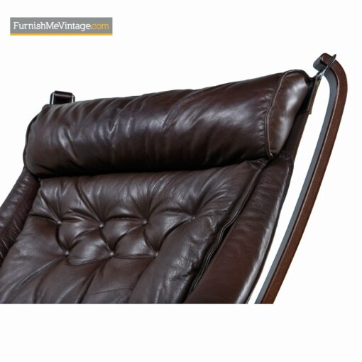 brown leather falcon armchair