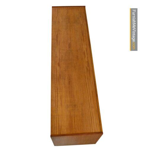 brutalist oak credenza burl rosewood