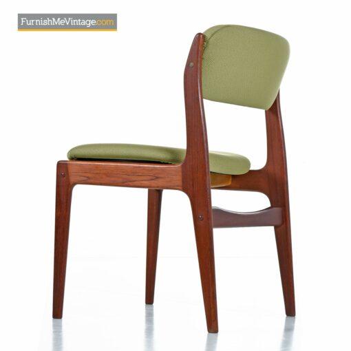 danish teak green chairs