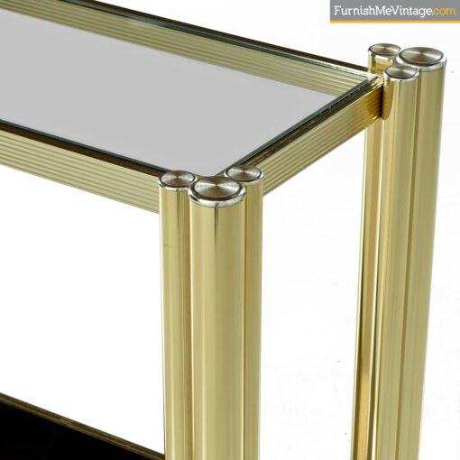 deco modern tubular brass sofa table