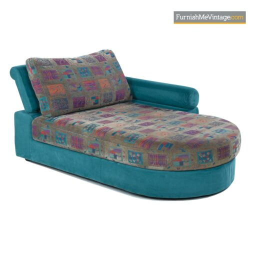 Dellarobbia teal and purple sectional sofaDellarobbia teal and purple sectional sofa