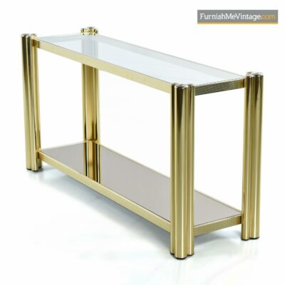 gold brass tubular modern console table
